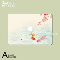 Wholesale Ink painting China Originality Top Vinyl Front Cover decal Protective Film macbook sticker For Apple Macbook Air Pro Retina inch