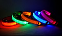 Wholesale New fashion LED flaring pet collar colors pet collar necklace for dog with freeshipping