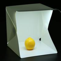 Nouvelle photo lightbox Toile de photographie LED Mini-caisse portative portable Kit de tente d'éclairage Fond photo tout-en-un blanc noir