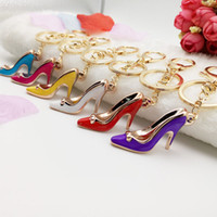 Acrylic activity keychains - Advertising activity promotion small gift Mini High Heel Shoe key buckle hanging simulation small shoe decoration