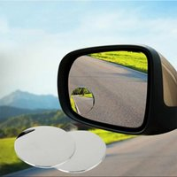 Wholesale 1pair Auto Degree Rotating Car Vehicle Side Blind Spot Mirror Small Round Mirror Wide angle Lens