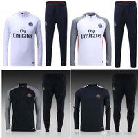 Wholesale 16 PSG training clothes sweater coat autumn and winter sports Jerseys Paris Slim trousers Uniforms