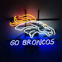 Wholesale Denver Go Broncos REAL GLASS TUBE NEON LIGHT BEER BAR PUB SIGN Billiards Signboards