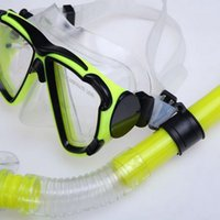 Wholesale diving mask Swimming Gear Dive Scuba Submersible Goggles Protective Mask Glasses Adult Anti fog Diving Mask Equipment Semi Dry Snorkel Set