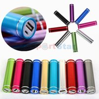 battery emergency phone charger - Cheap Power Bank Portable mAh Cylinder PowerBank External Backup Battery Charger Emergency Power Pack Chargers for all Mobile Phones