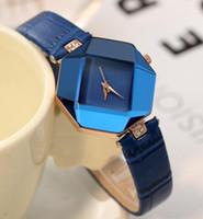 Wholesale 2017 Unisex Geneva Leather PU Women Quartz Watches Fashion Men Women Luxury Brand Numerals Men s Watch Casual dress wrist watches