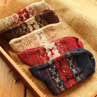 animal process - Christmas Golden Fawn Rabbit Wool Socks Autumn Winter To Keep Warm Female Deer Socks Processing