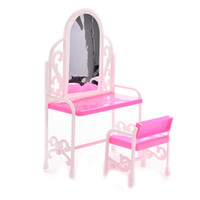 bedroom set dresser - 1 Set Fancy Classical Dresser Table Chair Kids Girls Play House Bedroom Toy Girls Accessories For Doll