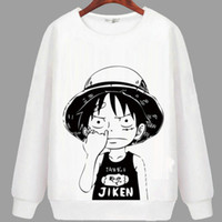 Wholesale One piece hoody Monkey D luffy sweatshirt Autumn keep warm hoodies Cartoon sweat shirt Quality sweater