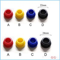 bearing supplies - Colorful POM drip tip resin wide bore top cap for mm mm rda atomizers best e cigarette accessory supply