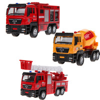 Wholesale 1 Sliding Alloy Car Truck Model Children Toys Fire Engine for Baby Chirstmas Birthday Gift