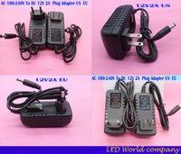 Wholesale AC V To DC V A EU US Plug Adapter Power Supply For Strip LED