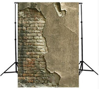 Wholesale 3x5FT Crack Gray Wall Brick Wall Photography Background For Studio Photo Props Thin Photographic Backdrops cloth x cm