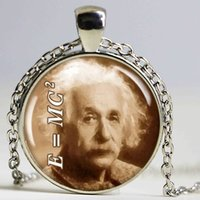 american physics - Einstein Picture Pendant Charm Theory Of Relativity Science Pendant Quantum Physics Geek Jewelry Sepia