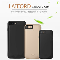 Laiford Black/Glod Micro SIM Dual SIM Dual Standby Adapter 2SIM Online For iPhone 7 7plus 6(s) 6plus Phone Shell Ultra-thin Back Clip Battery Power Supply