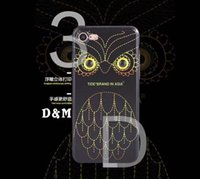 Wholesale New owl series iphone6 mobile phone shell drop proof protective sleeve creative personality D stereo eyes Apple plus hot