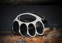 Wholesale Medium Size Cone Brass Knuckles Fighting Knuckle Duster Powerful Self Defense Knuckles Mens Self Defense Personal Security Tool