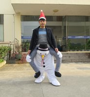 Wholesale New Arrival Snowman Creative Mascot Costume Special Snowman Carry a Man School Supermarket Active Fancy Dress