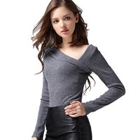 Wholesale Off Shoulder Women Sweaters And Pullovers Autumn Winter Sexy Long Sleeve Pullover Knitted Sweater Pull Femme Women Tops