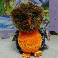 achat en gros de poupée en peluche hibou-LIVRAISON GRATUITE TY BIG EYES SERIES STUFFED PLUSH BONNE ANIMALE Hwlloween orange hibou * Midnight * 6