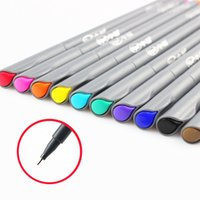 advertising lines - Fine line drawing pen for manga cartoon advertising design Water Color pens Stationery Office school supplies F954