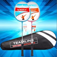 Wholesale WITESS authentic badminton racket two adult family couples with double ultralight composite racket