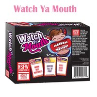 adult gift cards - Big Sale Watch Ya Mouth Adult Phrase Card Game Expansion Pack Fun Gift Family Party Christmas Board Game Christmas Gift