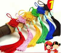 Wholesale chinese knot rope chinese knot craft chinese knot tassel red feng shui set of lucky