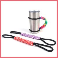 belt cup holder - Braided Strap Woven Belt Handle For oz oz Yeti Coolers Rambler Tumbler Cups Handles Rtic Sic Cup Travel Drinkware Holder