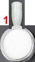 Vente en gros 2.5g / pot, High Shine Argent Couleur, Nails Glitters Poudre de poudre acrylique pour Nail Art Conseils pour les ongles Accessoires # BNG02001