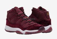 Wholesale Retro GS Velvet Heiress s Men Basketball Shoes New Wine Red Night Maroon Metallic Gold White Cheap Sneakers Women For Sale