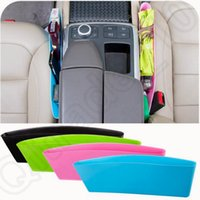 Wholesale Compressible Car Organizer Seat Storage Box Crack Rubbish Phone Pocket Catcher Plastic Organizer Box Colors OOA1167