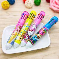 Wholesale Ten color creative cartoon multi color notes pen pen ball point pen stationery student award