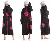 Wholesale New Fashion Unisex Cosplay Costumes Japan Anime Naruto Itachi Akatsuki Cosplay Robes Cloak Party Costumes