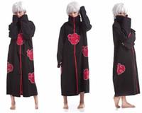 akatsuki robe - New Fashion Unisex Cosplay Costumes Japan Anime Naruto Itachi Akatsuki Cosplay Robes Cloak Party Costumes