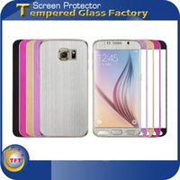 aluminum hardness - 0 mm Colorful Tempered Glass Full Cover Titanium Alloy Aluminum Metal Explosion Proof Front Back Brushed Texture For Samsung Galaxy S6 G920