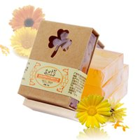 aromatherapy soaps - 100g Natural Herb Calendula Handmade Soap Repair Pore Anti Allergic Aromatherapy Soap Vegan Soap for Gift