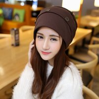 Wholesale winter warm reversible crochet ski beanie hat knit chunky baggy skullies cap bonnet gorros mujer invierno
