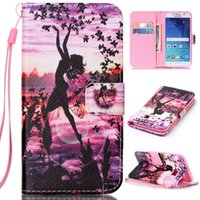 beautiful girl card - Beautiful Girl Butterfly Design Pu Leather Flip Stand Wallet Card Slots Wrist Rope Pouch Cover Case For Samsung Galaxy S6 G9200 New