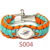 american soccer teams - Miami United State Football d Sports Team Bracelet Miami Soccer Survaval Parachute Rope Bracelet Outdoor Camping Bangles Drop Shipping