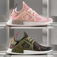baby camo - With shoesBox Colours NMD XR1 Men And Women Black White PINK Friday Duck Camo olive Baby Kids Children Sport Running Shoes