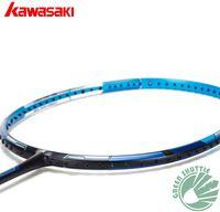 Wholesale 2017 Kawasaki Badminton Racket Skybow Double soft hardness Carbon Fiber Badminton Racket With Free Grip
