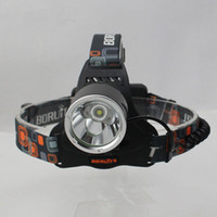 Wholesale 5000lm Headlamp CREE Headlight XML T6 R5 modes Waterproof Rechargeable LED light with mah v battery car AC charger free