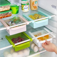 Food space containers - New Slide Fridge Freezer Food Storage Boxes Pantry Storage Organizer Bins Container Space saving Fridge Box Kitchen Tool DHL