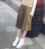 Wholesale 2016 Autumn Fashion Women s Clothing Velvet Skirts Pleated Skirts Bust Skirts