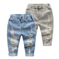 Jeans baby boy s jeans - 2017 Boys holes denim trousers Spring Autumn Children s Breathable Baby Pants casual pants L16