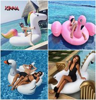 Wholesale Giant Inflatable Flamingo Pool Float Inflatable Unicorn Adult Swimming Ring Inflatable Swan Donut Water Pool Toys DHL FEDEX SF