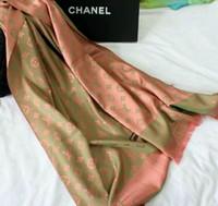 al por mayor bufandas de seda-Fashion shawl square-2016 Mujeres Nueva bufanda de seda de la franja del estilo de la marca de fábrica de la manera de las mujeres de la bufanda del diseñador de la marca de fábrica de la llegada y mantón largo