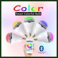 Wholesale Wireless Bluetooth Speaker Smart LED Light Bulb Dimmable Multicolored Color Changing Lights Desk Lights Bar Sinks APP Controlled