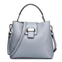 bag of water - Fancychic water bag handbag leather handbag fashion new first layer of leather leather handbag shoulder Messenger